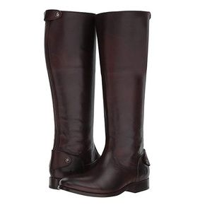 Frye Melissa Button Zip Back Riding Boot